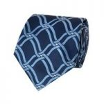 Men's Navy & Light Blue Chain Waves Tie – 100% Silk