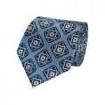 Men's Light Blue & Navy Bold Foulard Tie – 100% Silk