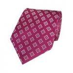 Men's Fuchsia & White Geo Squares Tie – 100% Silk