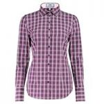 Women's Purple & Pink Multi Check Fitted Shirt