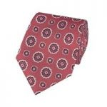 Men's Red Geometrics Tie – 100% Silk