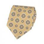 Men's Yellow Geometrics Tie – 100% Silk