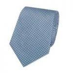 Men's Blue Small Triangles Tie – 100% Silk