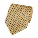 Men's Yellow & Blue Printed Daisy Tie – 100% Silk