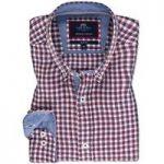 Red & Navy Multi Check Slim Fit Linen Shirt