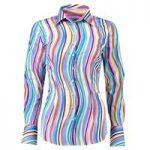 Women's Blue & Pink Fitted Shirt – Single Cuff
