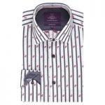Curtis Navy & White Stripe Slim Fit Men's Shirt – Single Cuff