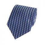 Men's Blue Contrast Tiles Tie – 100% Silk