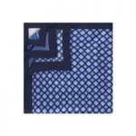 Men's Blue 4 Way Prints Design Pocket Square – 100% Silk